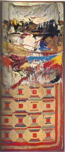Роберт Раушенберг, комбайн «Постель», 1955