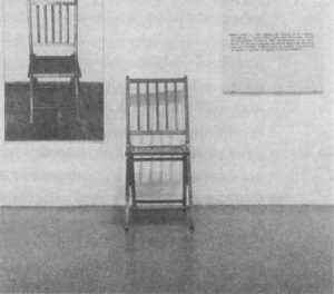 Джозеф Кошут. Один и три стула. 1965