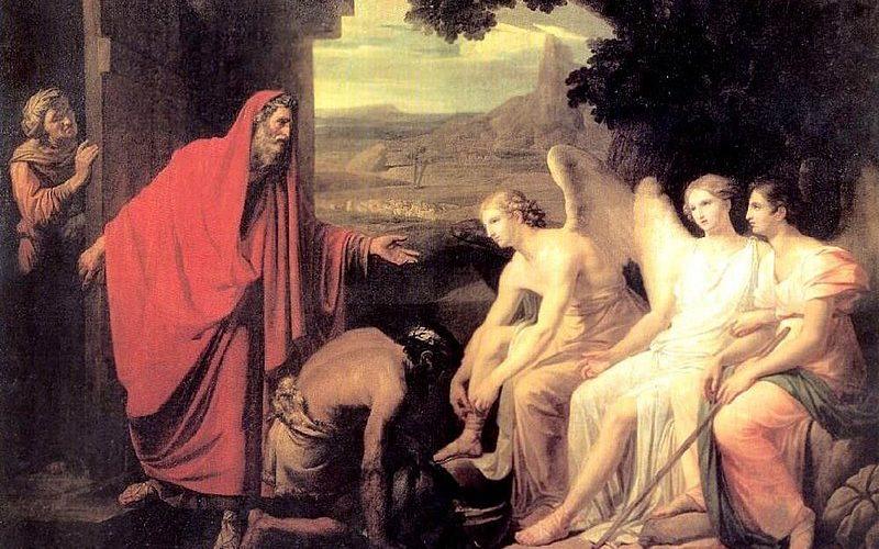 Явление Аврааму трех Ангелов у дуба Мамврийского. 1821. ГРМ