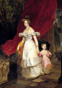 Портрет великой княгини Елены Павловны с дочерью Марией, 1830. ГРМ