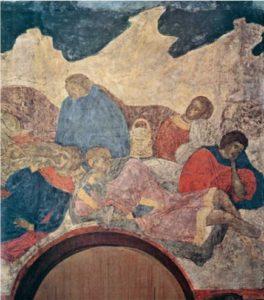 Семь отроков Эфесских. Конец XV в. Фреска жертвенника Успенского собора Московского Кремля