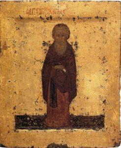 Дионисий Глушицкий. Преподобный Кирилл Белозерский. Икона XV в. ГТГ