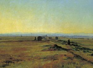 Иванов А. «Аппиева дорога при закате солнца» (1845)