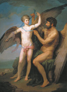 Соколов П.И. Дедал привязывает крылья Икару (1776)