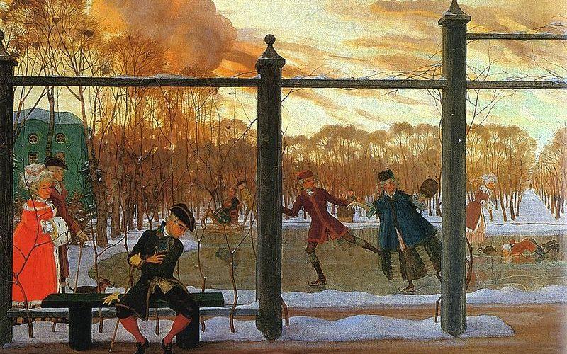 Сомов К. А. «Зима. Каток» (1915)