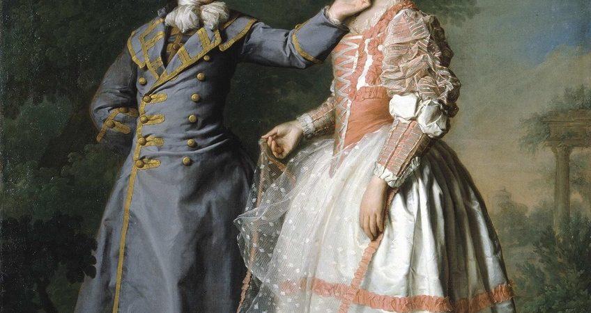 Д.Г. Левицкий. Портрет Е.Н. Хрущевой и Е.Н. Хованской. 1773 г. Санкт-Петербург, ГРМ