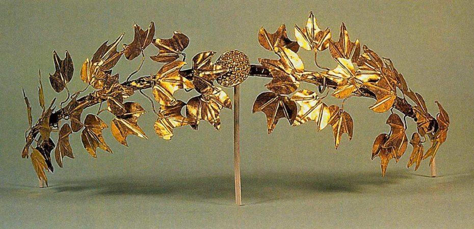 Венок, Микены. Золото. Национальный археологический музей, Афины