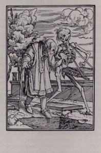 Г.Гольбейн Младший. Старик и смерть. 1526. Из серии Пляска смерти