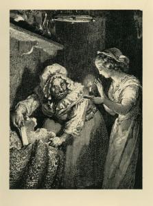 Г. Доре. Иллюстрация к сказке Ш.Перро «Золушка». ι888. Торцовая гравюра на дереве