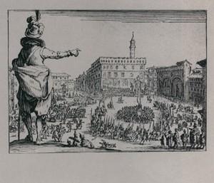 Ж.Калло Праздник на площади Синьории во Флоренции Из серии Каприччи. 1617