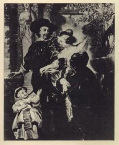 Неизвестный гравер. Копия с картины Рубенса «Семья Рубенсов». Акватинта