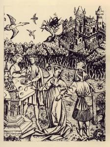 Неизвестный нидерландский гравер. Большой Сад любви. 1460. Резцовая гравюра