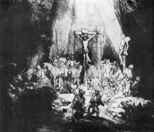 Три креста, Рембрандт, 1653
