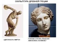 Творчество Мирона и Поликлета: сравнительная характеристика.