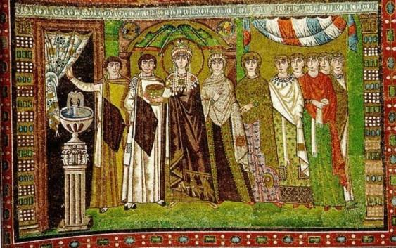 мозаика в церкви Сан-Витале в Равенне, около 547 г