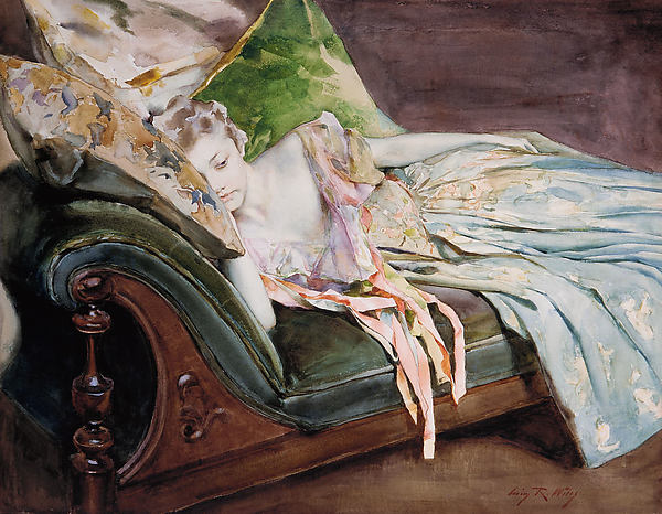 The Green Cushion. Irving Ramsey Wiles, 1895