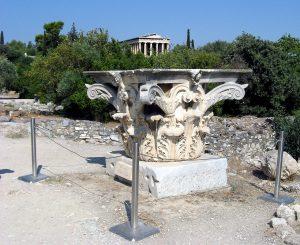 Капитель коринфского ордера (от одной из колонн Одеона Агриппы) на территории Афинской Агоры