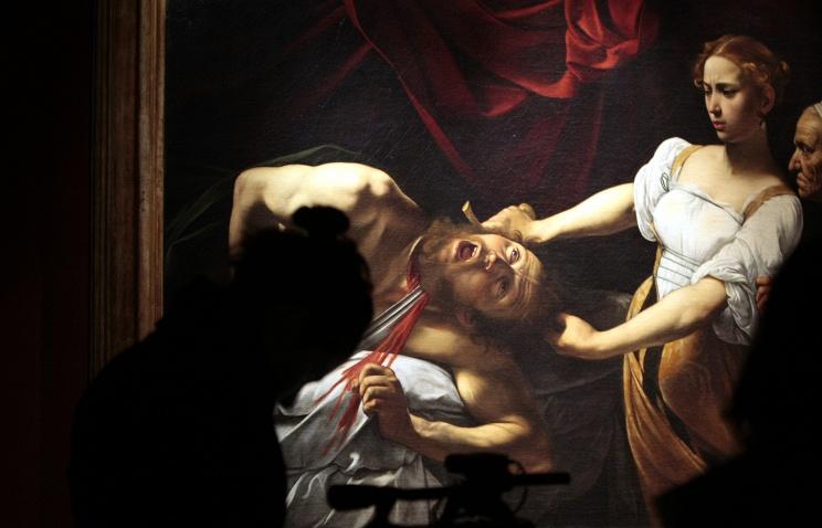 """Версия """"Юдифи и Олоферна"""" кисти Караваджо в Палаццо Барберини в Риме"""