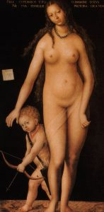 «Венера и Амур». 1509, Эрмитаж Лукас Кранах Старший