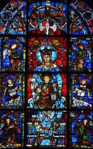 Фрагмент витража «Богородица из красивого стекла», Шартрский собор