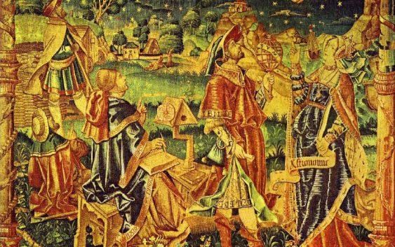 Муза астрологии и астрономии Роберт Хэрри Гентский Средневековый гобелен