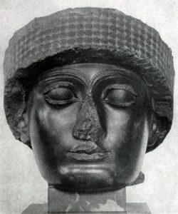 Голова статуи Гудеа из Лагаша. Диорит. 22в. до н. э. Париж. Лувр.