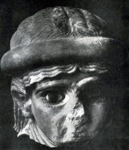 Женская голова из Ура. Мрамор. Время III династии Ура. 31—22вв. до н. э. Филадельфия. Музей.