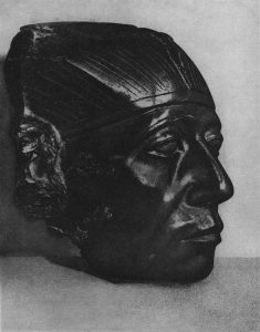 Сенусерт III. Голова из обсидиана