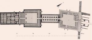 Храм в Луксоре. Схема