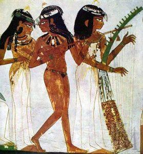 «Музыкантши». Фрагмент росписи гробницы Нахта