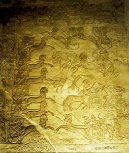 Большой храм в Абу-Симбеле. Битва при Кадеше. Фрагмент