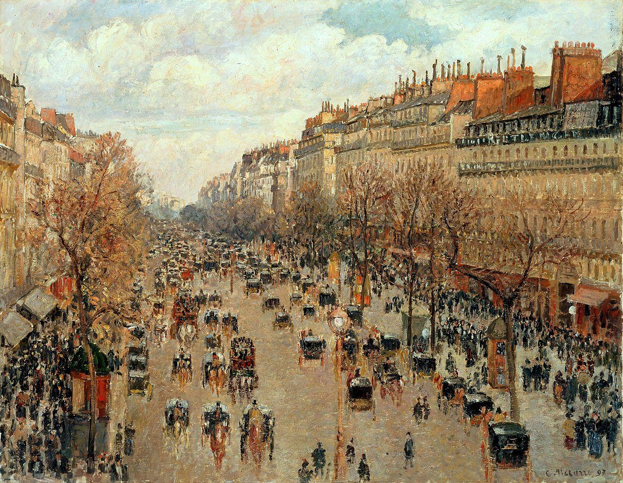 Камилль Писсарро, «Бульвар Монмартр. После полудня, солнечно.» 1897
