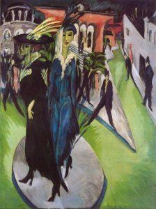 «Потсдамская площадь в Берлине». 1914 Эрнст Людвиг Кирхнер