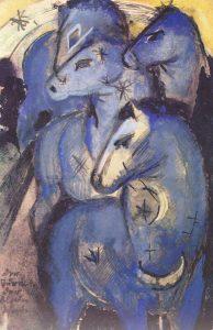 Франц Марк. Башня синих коней (1913)