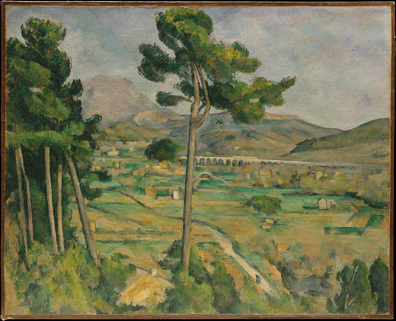 Поль Сезанн - «Гора Сент-Виктуар», 1882—1885, Метрополитен-музей, Нью-Йорк.