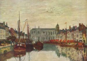 Буден, Эжен. Канал в Брюсселе. 1871