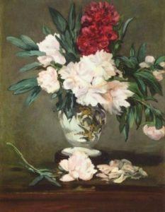 Мане, Эдуард. Натюрморт. Ваза с пионами. 1864-1865