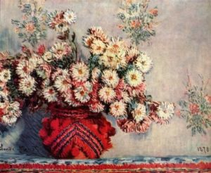 Моне, Клод. Натюрморт с хризантемами. 1878