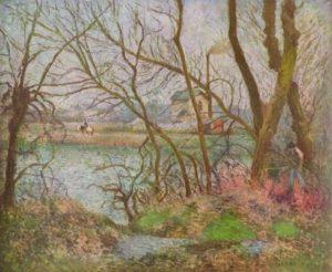 Писсарро, Камиль. Дровосек. 1878