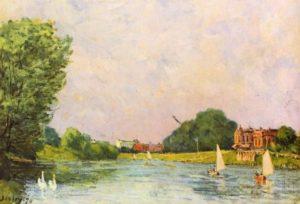 Сислей, Альфред. Темза близ Хэмптон-Корта. 1874