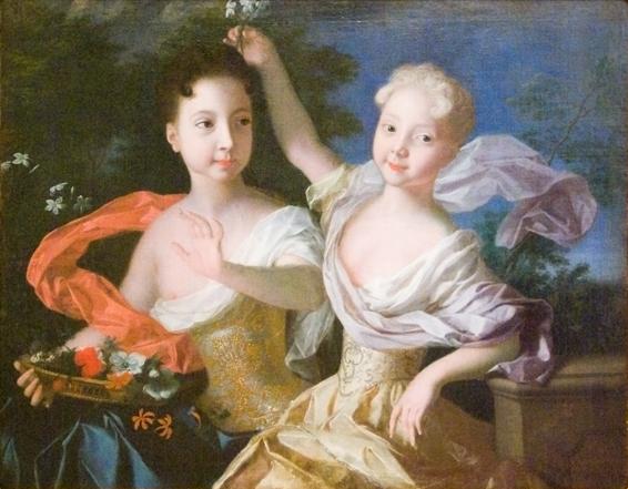 Каравакк - Портрет царевен Анны Петровны и Елизаветы Петровны