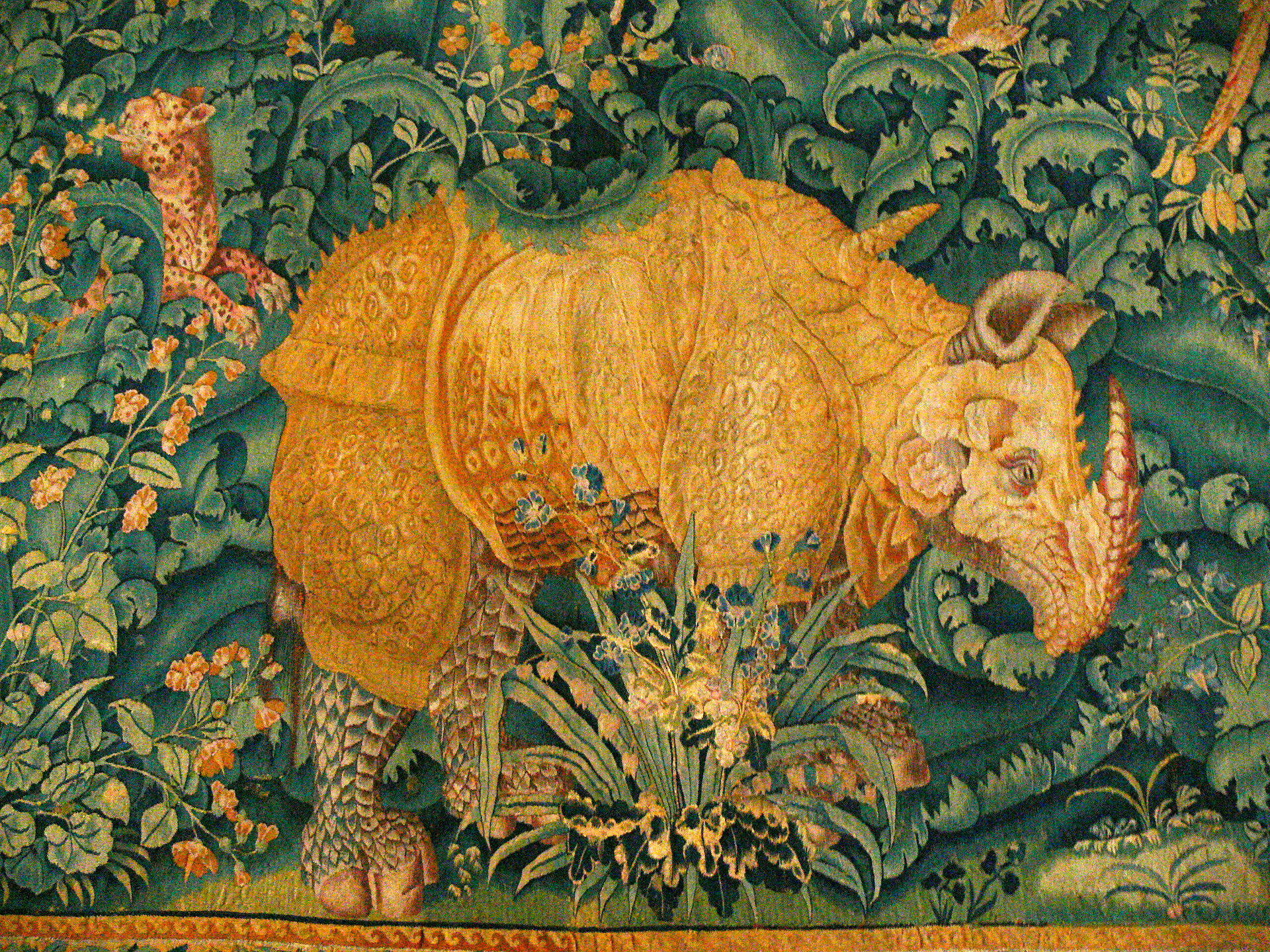 Носорог. Фландрия. 1550. Замок Кронборг
