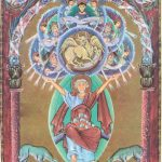 Евангелист Лука. Миниатюра Евангелария Оттона III. ок.1000 г. Мюнхен. Баварская Государственная библиотека