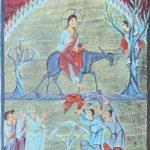 Въезд Христа в Иерусалим. Миниатюра Евангелария Оттона III, ок. 1000 г. Мюнхен, Баварская Государственная библиотека