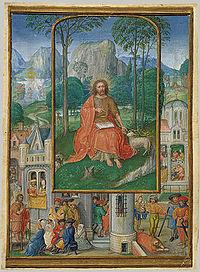Апостол Иоанн, миниатюра, приписываемая Хоренбоуту