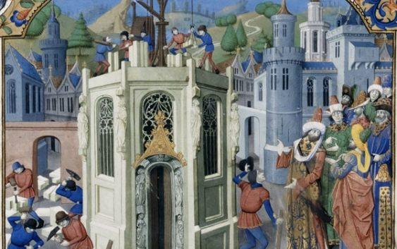 Восстановление Иерусалимского храма. Бургундская миниатюра, около 1460 года