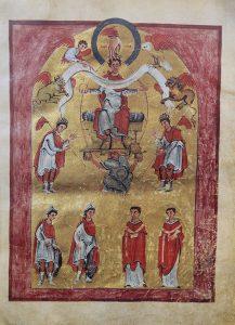 «Евангелие Лютхара». Райхенау. Ок. 996 г. Аахен, сокровищница собора. Рукопись без шифра. Л. 16