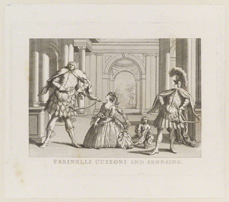 NPG D13888; Farinelli Cuzzoni and Senesino