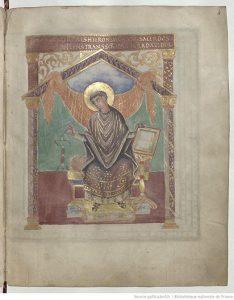 Св. Иероним переводит законы Давида, fol. 4r