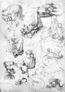 А.Дюрер. Рисунок. Перо, бистр, 1511.